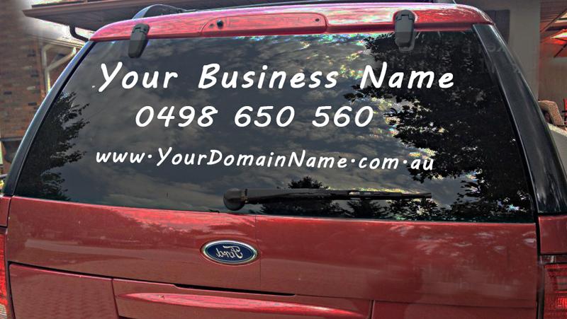 High quality vehicle window vinyl text in australia
