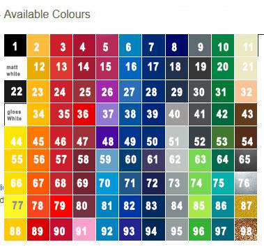 Vinyl A700 Colours - Vinyl Colours