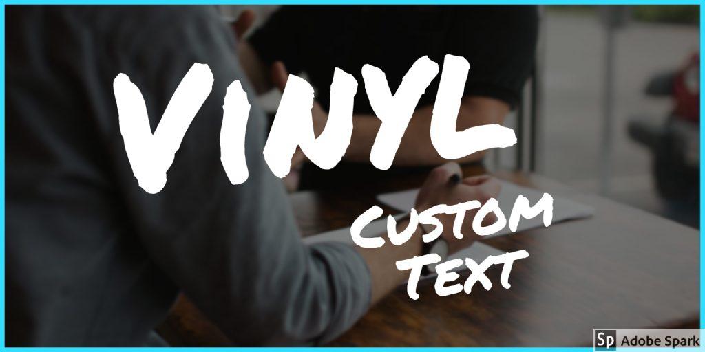 custom vinyl text