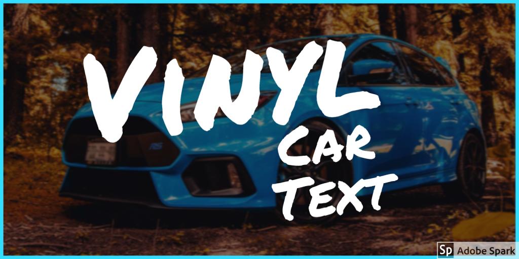 vinyl car text