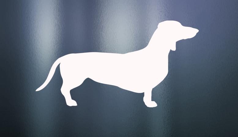 vinyl dog decal sample
